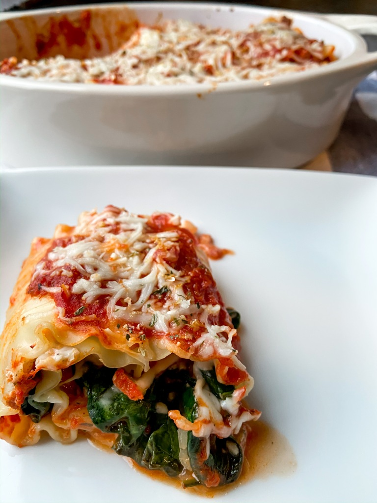 recipes with rachel creamy spinach lasagna rolls up