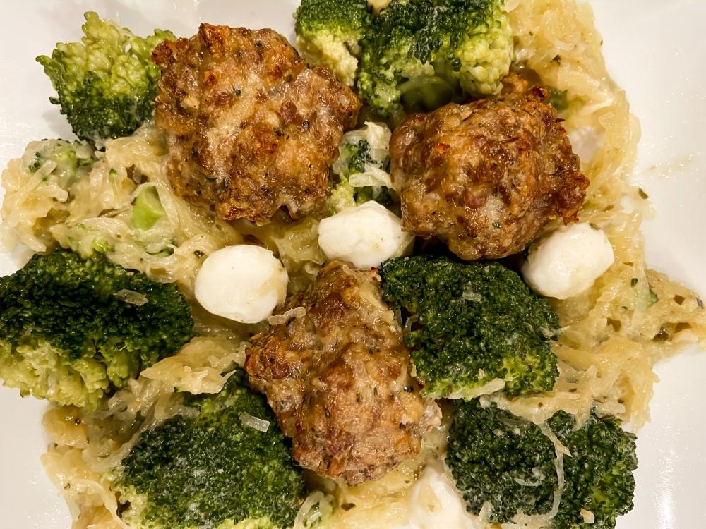 Recipes with Rachel Italian Meatballs with Spaghetti Squash