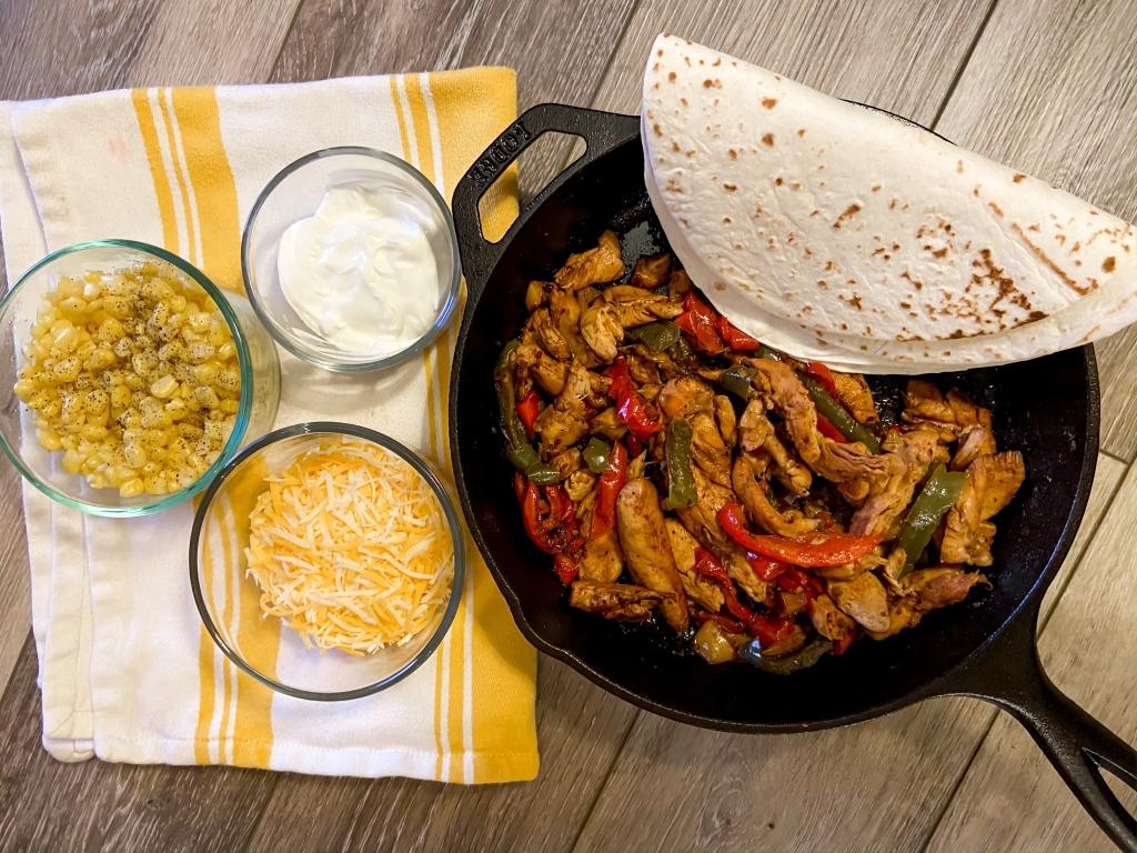 recipes with rachel chicken fajitas