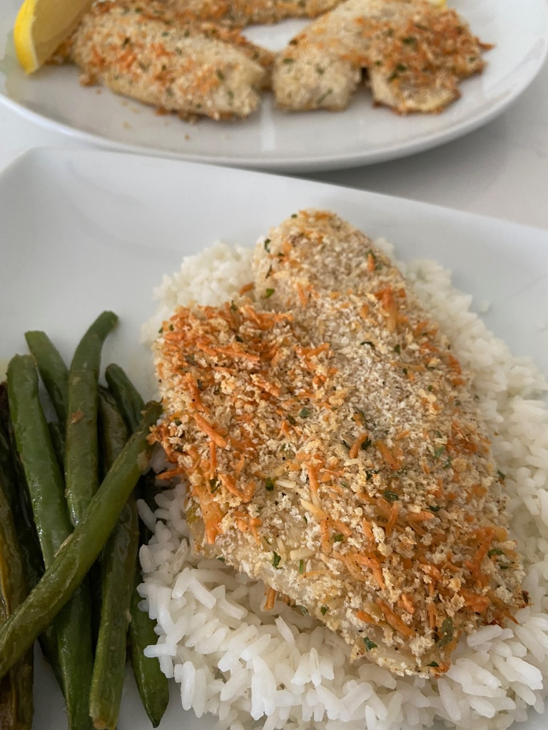 recipes with rachel panko and parmesan crusted tilapia