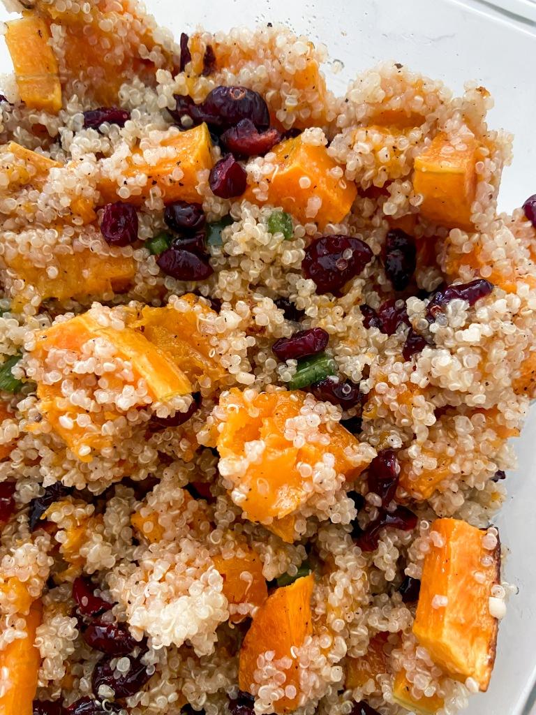 recipes with rachel squash, quinoa with cranberries
