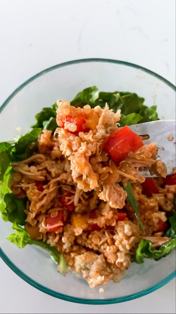Buffalo Chicken and Veggies with Quinoa
