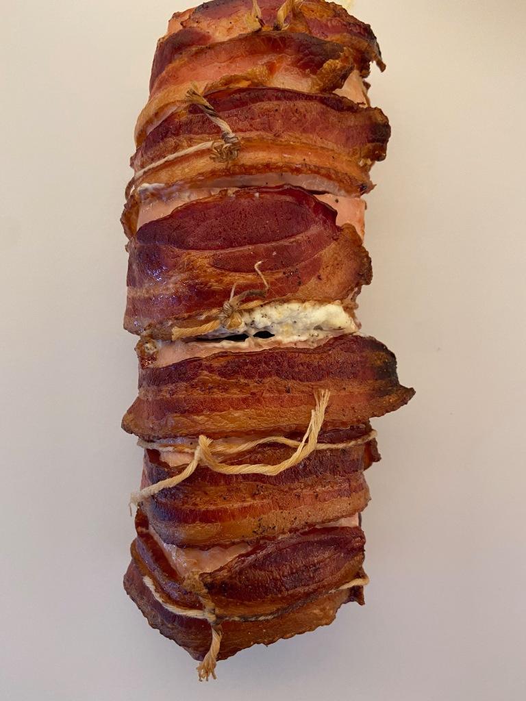 recipes with rachel cheese stuffed, bacon wrapped pork tenderloin